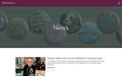 Screenshot of Press Page charitiestrust.org.uk - News — Charities Trust - captured May 10, 2017