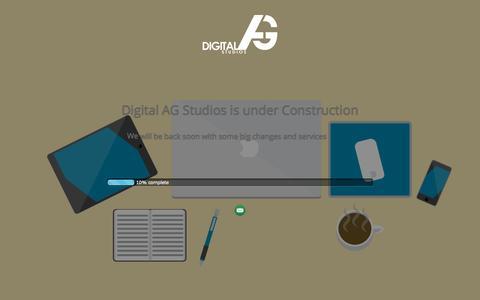 Screenshot of Home Page digitalag.net - | Digital AG Studios - captured Sept. 12, 2015