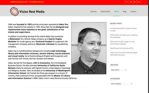 Screenshot of About Page visionnest.com - About Vision Nest Media – Vision Nest Media - captured Dec. 14, 2016