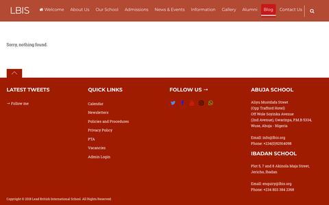 Screenshot of Blog lbis.org - Blog – LBIS - captured Sept. 27, 2018