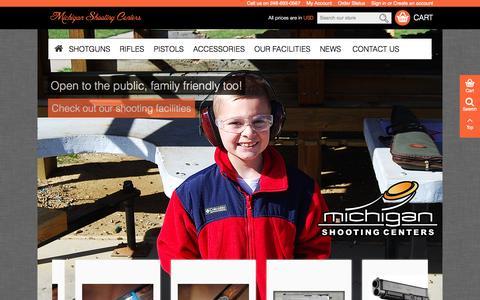 Screenshot of Home Page mishoot.com - Michigan Shooting Centers - Michigan's Premier Shooting Destinations & Gun Shop - captured Oct. 6, 2014