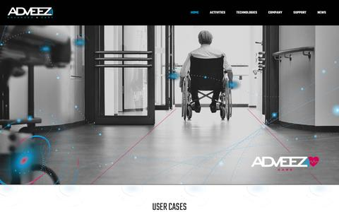Screenshot of Home Page adveez.com - Adveez - Advanced & Easy - Improve management of assets and users - captured Dec. 16, 2019