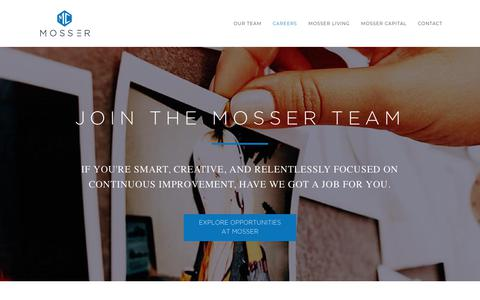 Screenshot of Jobs Page mosserco.com - Mosser I Careers in Property Management & Investment in San Fransisco & LA - captured Oct. 19, 2018