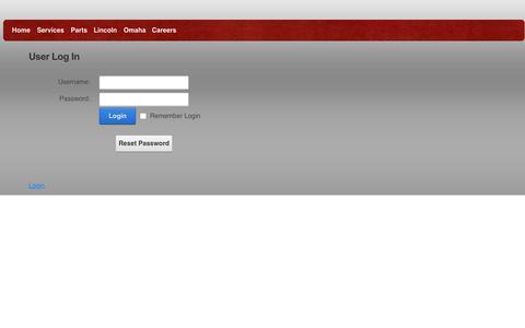 Screenshot of Login Page andysappliance.net - User Log In - captured Feb. 6, 2016