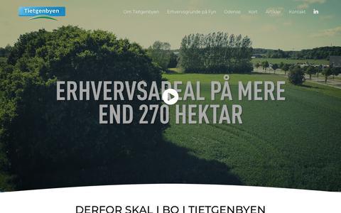 Screenshot of Home Page tietgenbyen.dk - Tietgenbyen - Erhvervsgrunde midt i Danmark - captured Sept. 21, 2018