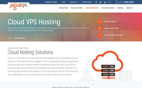 Screenshot of jaguarpc.com - Cloud Hosting - Jaguarpc - captured Dec. 9, 2016