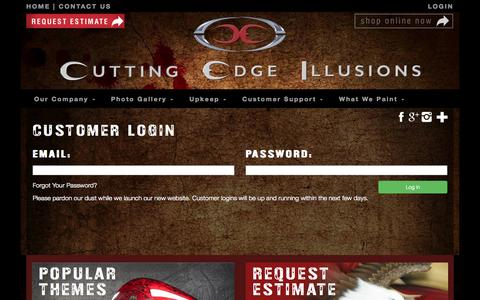 Screenshot of Login Page cuttingedgeillusions.com - Custom | Cutting Edge Illusions - captured Nov. 2, 2014