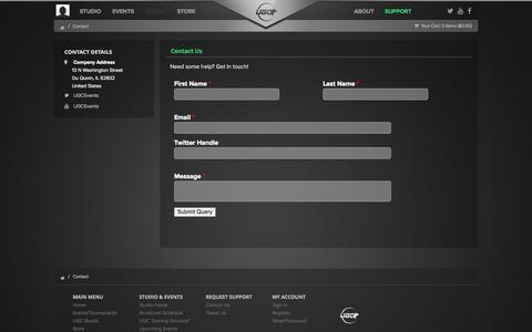Screenshot of Contact Page ugcevents.com - Contact UGC - captured Nov. 3, 2014