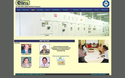 Screenshot of Team Page elinsswitchboards.com - ..:Elins SwitchBoards Pvt.Ltd:.. - captured Oct. 2, 2014