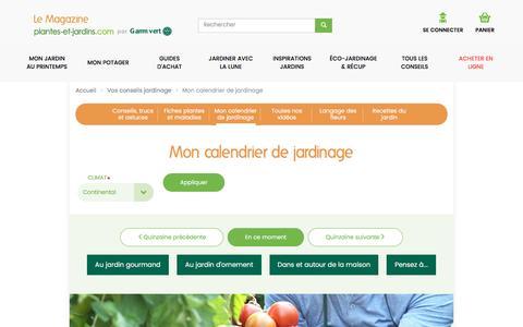 Mon calendrier de jardinage | Le Magazine — Gamm vert