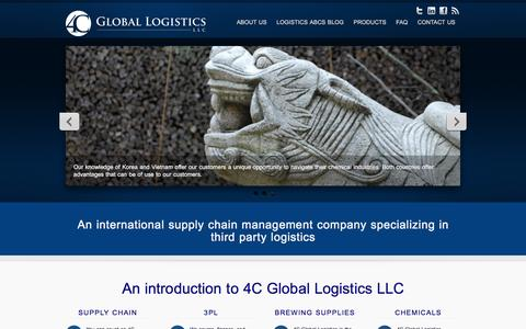 Screenshot of Home Page 4cgl.com - 4C Global Logsticis LLC - Global Supply Chain Management - captured Feb. 23, 2016