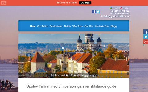 Screenshot of Home Page guideitallinn.se - Boka en personlig svensktalande guide | Guide i Tallinn - captured July 19, 2016