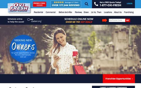 Screenshot of Support Page oxifresh.com - Customer Service   Oxi Fresh - captured Jan. 15, 2020