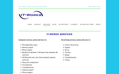 Screenshot of Services Page i-t-w.com - IT-Works Services — IT-Works Computer Services - captured Oct. 4, 2014