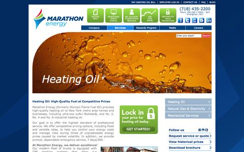 Screenshot of Services Page mecny.com - Heating Oil | Marathon Energy - captured Oct. 27, 2014