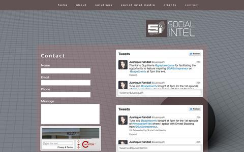 Screenshot of Contact Page socialintel.co.za - Social Intel - captured Oct. 7, 2014