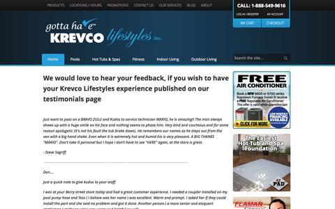 Screenshot of Testimonials Page krevco.com - Testimonials - captured Oct. 6, 2014