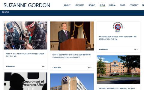 Screenshot of Blog suzannecgordon.com - Blog - Suzanne Gordon - captured Feb. 18, 2018