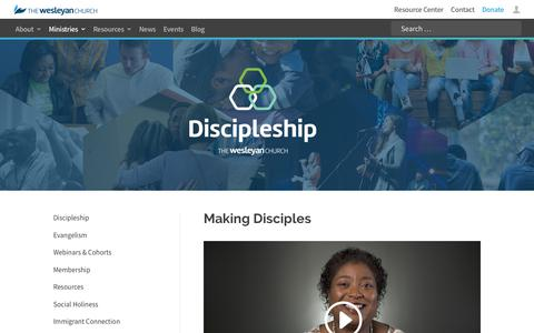 Discipleship | The Wesleyan Church