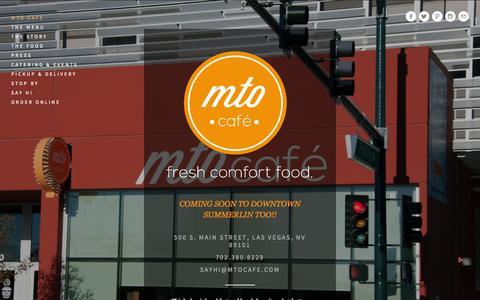 Screenshot of Home Page mtocafe.com - MTO Café - captured Sept. 30, 2014
