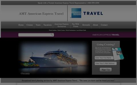 Screenshot of Home Page amttravel.com - AMT American Express Travel: Tours, Vacations, World Cruises. - captured Oct. 4, 2014