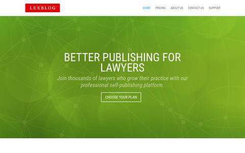 Screenshot of Home Page lexblog.com - LexBlog | Law Blogs & Legal Publishing Platform for Lawyers - captured March 30, 2016