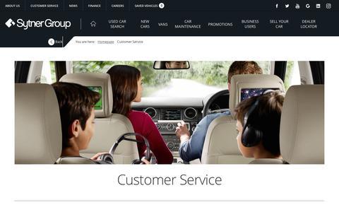 Screenshot of Support Page sytner.co.uk - Customer Service | Sytner Group - captured Sept. 24, 2018
