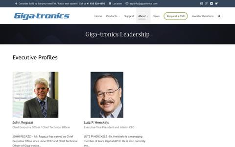 Screenshot of Team Page gigatronics.com - Giga-tronics Leadership - captured July 13, 2018