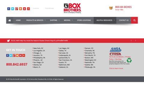 Screenshot of Press Page boxbros.com - News | BoxBros - captured Sept. 23, 2014