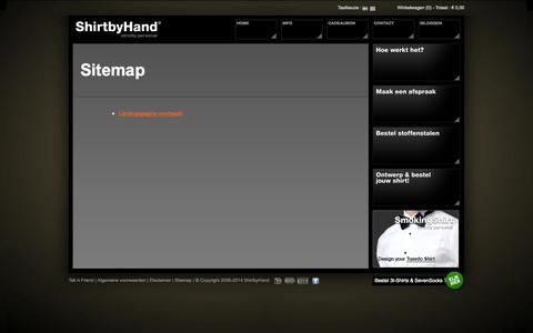 Screenshot of Site Map Page shirtbyhand.nl - Shirtbyhand - captured Oct. 26, 2014