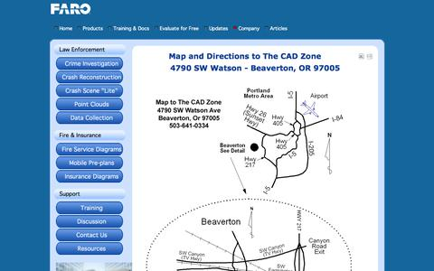 Screenshot of Maps & Directions Page cadzone.com - Directions - captured Nov. 3, 2014