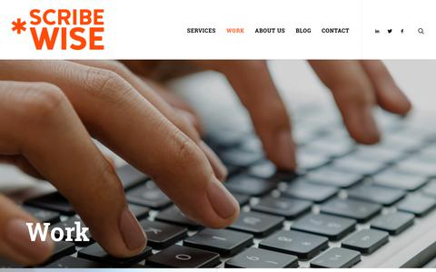 Screenshot of Case Studies Page scribewise.com - Work - Scribewise | Philadelphia Content Marketing and Public Relations - captured June 16, 2017
