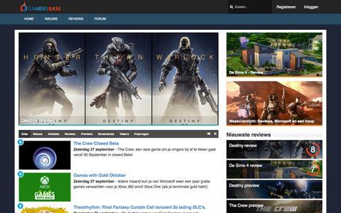 Screenshot of Home Page gamersbase.nl - GamersBase - Homepagina - captured Sept. 27, 2014