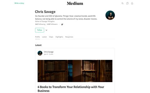 Chris Savage – Medium