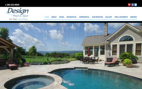 Screenshot of Home Page designpoolandspa.com - Design Pool & Spa Ľ In-Ground Pool and Spa experts - captured Nov. 3, 2015