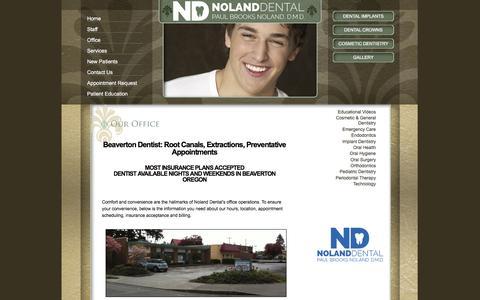 Screenshot of Hours Page nolanddental.com - Dental Office - Paul Brooks Noland, D.M.D. in Beaverton, OR - captured Jan. 26, 2016