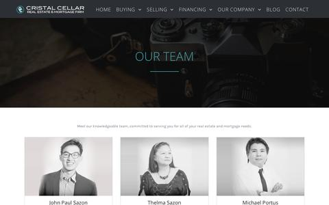 Screenshot of Team Page cristalcellar.com - TEAM - Cristal Cellar - captured July 22, 2018
