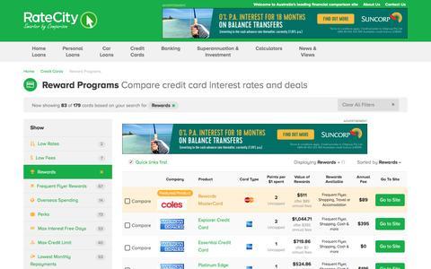 Top 2017 Rewards Credit Cards 100k Bonus Points | RateCity