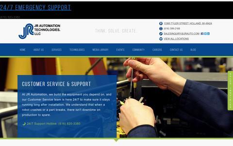 Screenshot of Support Page jrauto.com - Customer Service & Support - captured Jan. 21, 2017