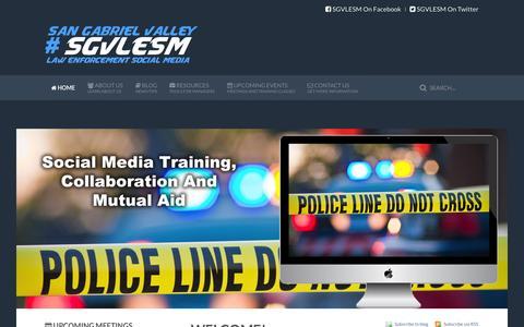Screenshot of Login Page sgvlesm.com - Social Media For Law Enforcement - captured Oct. 4, 2014