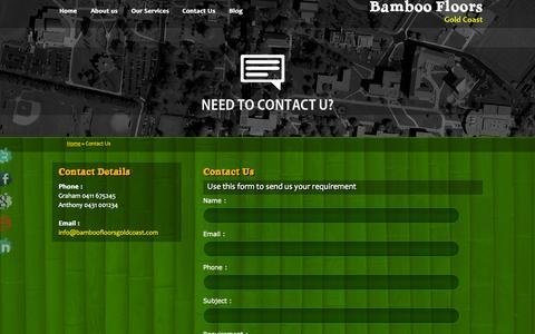 Screenshot of Contact Page bamboofloorsgoldcoast.com - Prices   Hardwood   Sanding Flooring   Gold Coast - captured Oct. 5, 2014