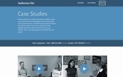 Screenshot of Case Studies Page authorize.net - Case Studies - Authorize.Net - captured Sept. 19, 2014