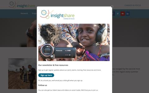 Screenshot of Press Page insightshare.org - News - InsightShare - captured Nov. 6, 2018
