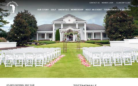 Screenshot of Testimonials Page clubcorp.com - Testimonials | Atlanta National Golf Club - captured Nov. 6, 2018
