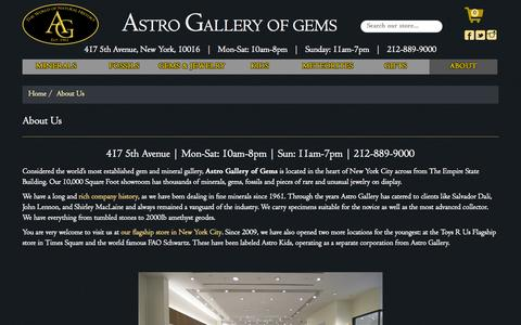 Screenshot of About Page astrogallery.com - About Us – Astro Gallery - captured Sept. 25, 2015