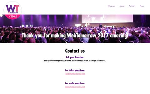 Screenshot of Contact Page bloovi.be - Contact us -  WebTomorrow - captured Jan. 3, 2018