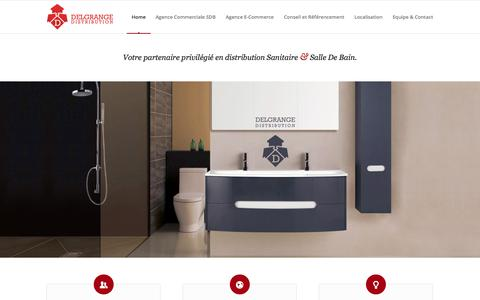 Screenshot of Home Page delgrange-distribution.com - Delgrange Distribution | Agence commerciale sanitaire - Sales agency in bathroom products - captured Sept. 30, 2014