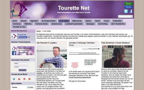 Screenshot of Press Page tourettenet.nl - TouretteNet - Artikelen en interviews uit kranten en tijdschriften over Gilles de la Tourette. - captured Oct. 7, 2014