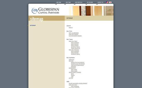 Screenshot of Site Map Page globespancapital.com - Globespan Capital Partners - Sitemap - captured Oct. 27, 2014