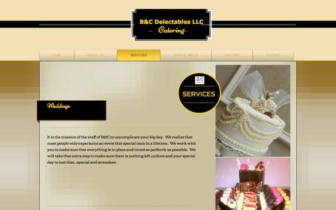 Screenshot of Services Page bcdelectables.com - bcdelectables | SERVICES - captured May 13, 2017